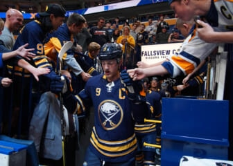 sabres take captain from eichel