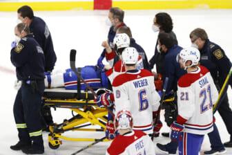 jake evans injured by mark Scheifele