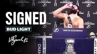 bud light signs Nikita Kucherov
