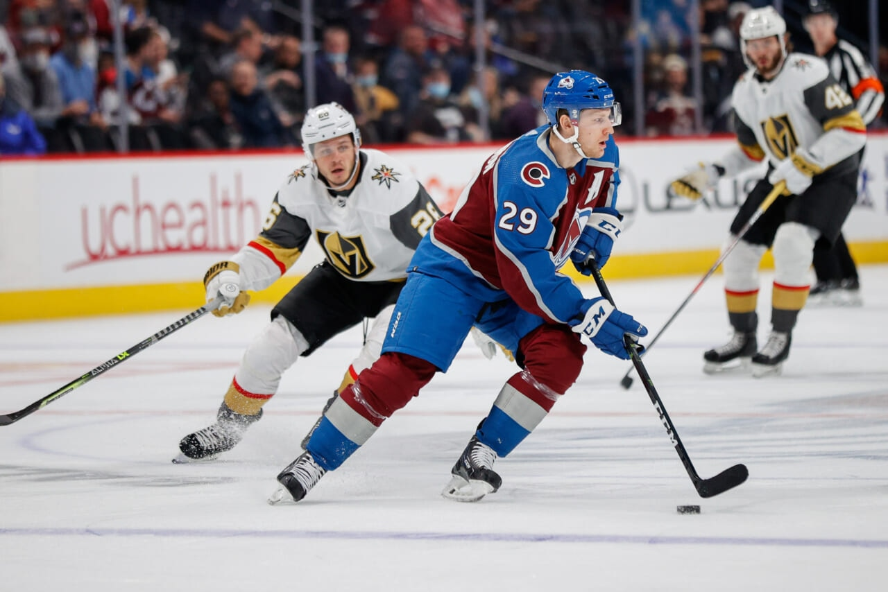 Nathan MacKinnon remains in COVID-19 protocol after second positive test; Avalanche struggle with lineup